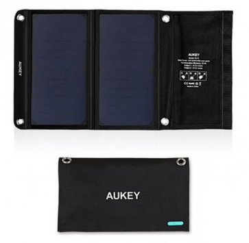 AUKEY PB-P3 14W SOLAR PANEL CHARGER DUAL USB PORT