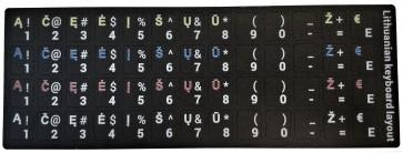 Lipdukas klaviatūrai LT raidės